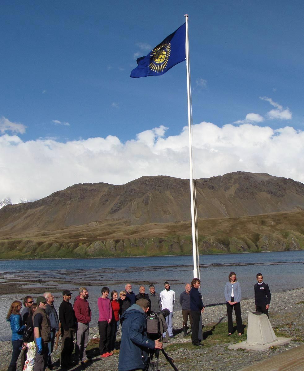 The Commonwealth flag flies above KEP on Commonwealth Day.