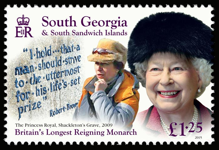 The portrait of Her Majesty on the £1.25 stamp was taken in 2009. Photo by Chris Jackson/Getty Images.