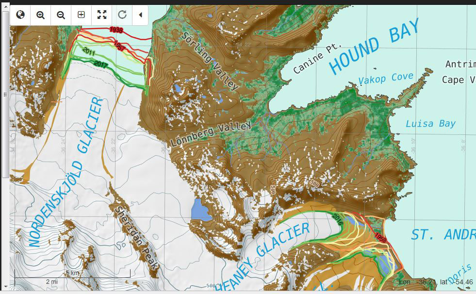 SG-GIS-glacier-change-screenshot