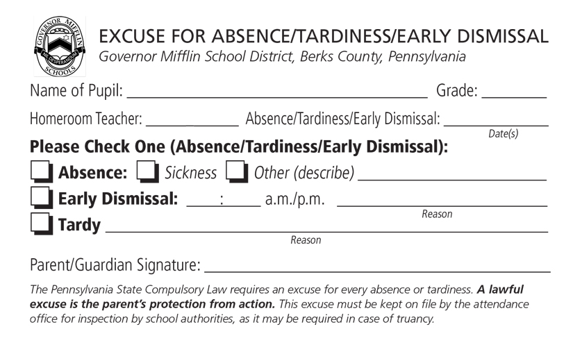 ATTENDANCE \u2013 Governor Mifflin School District