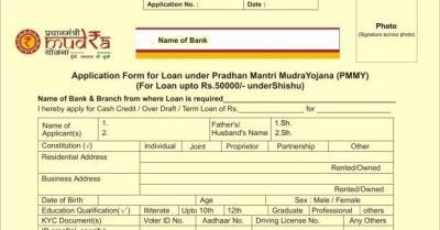 Pradhan Mantri Mudra Loan Yojana Scheme : Online Application Form For New Small Business ...
