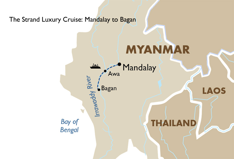 The Strand Luxury Cruise Mandalay to Bagan Asia Tours Goway