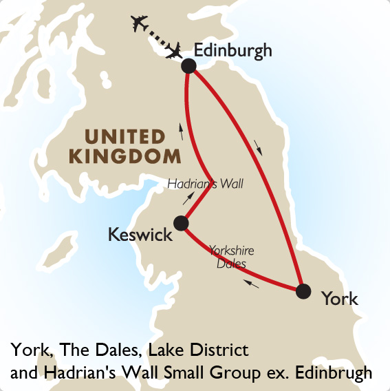 York, Dales, Lake District  Hadrian\u0027s Wall Scotland Tours Goway