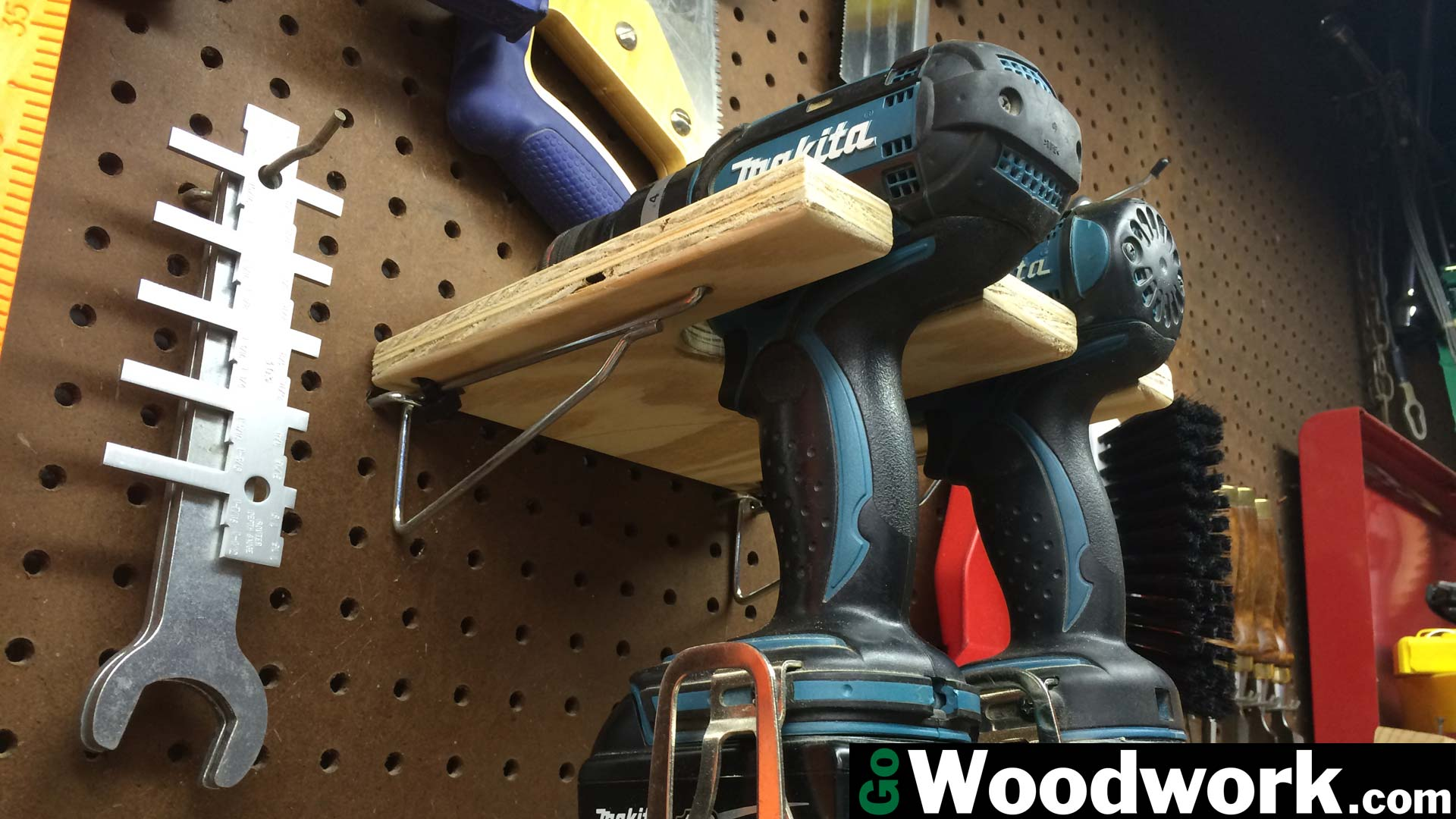 Pegboard Drill Holder Go Woodwork