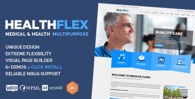 HEALTHFLEX Medical Health WordPress Theme - GPL Plugins