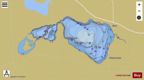 Lac Ste Anne (Fishing Map  CA_AB_st_anne_lake_ab) Nautical