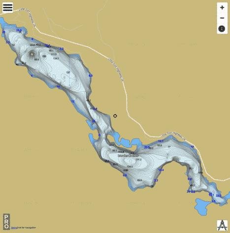 Lac Des Roches (Fishing Map  CA_BC_lac_des_roches_bc) Nautical