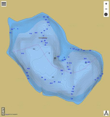 Lac Bellevue (Fishing Map  CA_QC_Lac_Bellevue_qc) Nautical Charts App