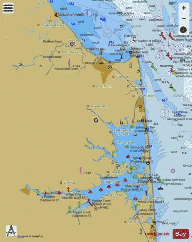 CAPE HENLOPEN TO INDIAN RIVER INLET (Marine Chart  US12216_P555