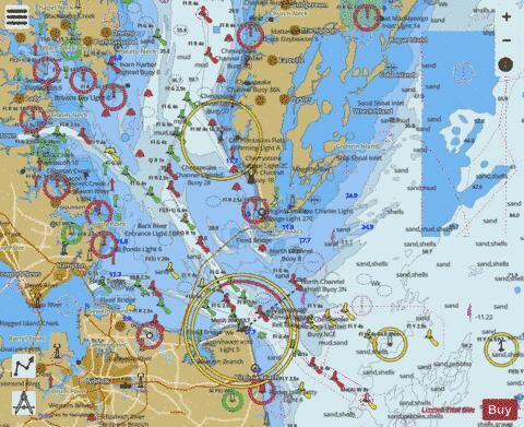 CHESAPEAKE BAY ENTRANCE (Marine Chart  US12221_P558) Nautical