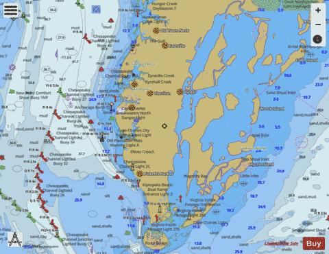 CHESAPEAKE BAY CAPE CHARLES TO WOLF TRAP (Marine Chart