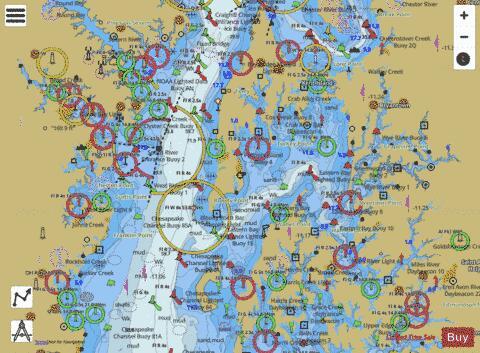 CHESAPEAKE BAY EASTERN BAY AND SOUTH RIVER (Marine Chart