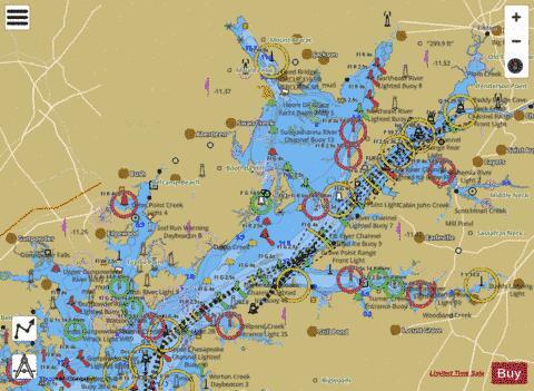 HEAD OF CHESAPEAKE BAY (Marine Chart  US12274_P626) Nautical