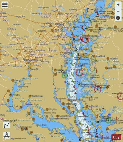 CHESAPEAKE BAY - NORTHERN PART (Marine Chart  US12280_P2974