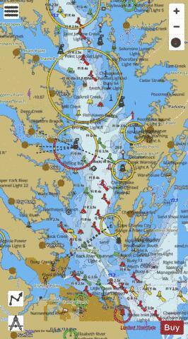 CHESAPEAKE BAY - SOUTHERN PART (Marine Chart  US12280_P2975