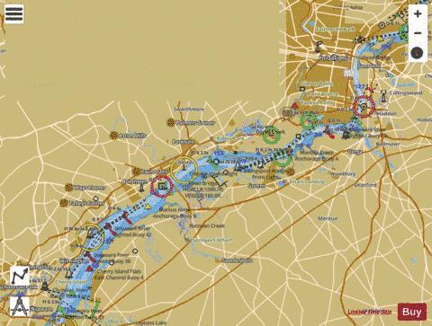 DELAWARE RIVER WILMINGTON TO PHILADELPHIA (Marine Chart