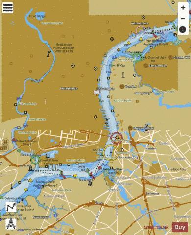 DELAWARE RIVER PHILADELPHIA AND CAMDEN WATERFRONTS (Marine Chart