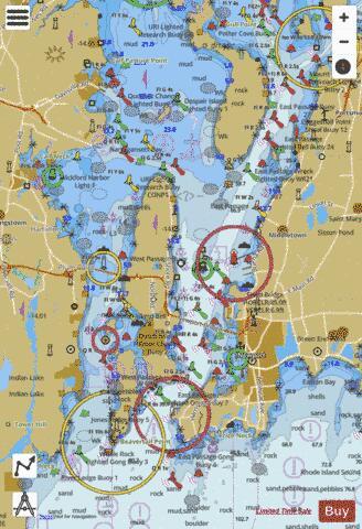 NARRAGANSETT BAY INCL NEWPORT HARBOR RI (Marine Chart