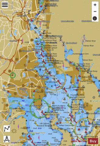 PROVIDENCE R AND HEAD OF NARRAGANSETT BAY RI (Marine Chart