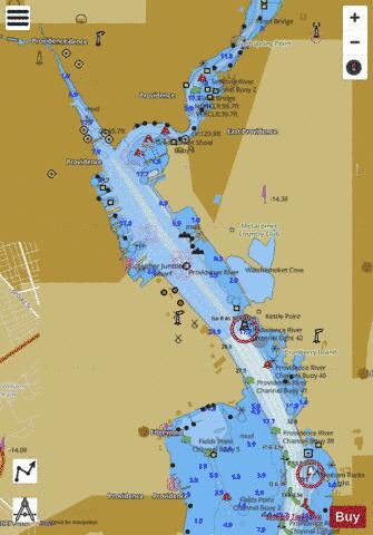 PROVIDENCE HARBOR (Marine Chart  US13225_P2131) Nautical Charts App