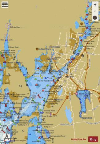 MT HOPE BAY RI-MA (Marine Chart  US13226_P2129) Nautical Charts App