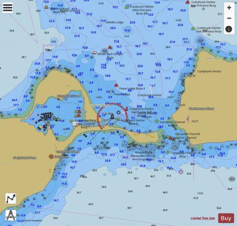 CUTTYHUNK HARBOR MA INSET 5 (Marine Chart  US13229_P2120