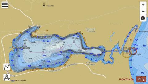 LAC LA BELLE HARBOR MICHIGAN (Marine Chart  US14964_P1510