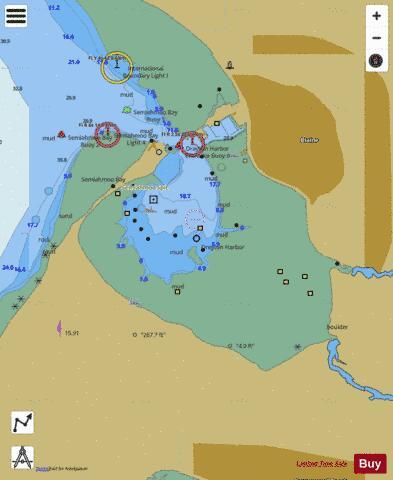 DRAYTON HARBOR (Marine Chart  US18421_P1658) Nautical Charts App