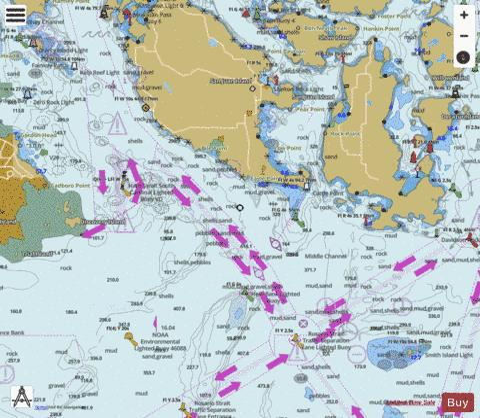 BELLINGHAM TO EVERETT INC SAN JUAN ISLAND SAN JUAN IS (Marine Chart