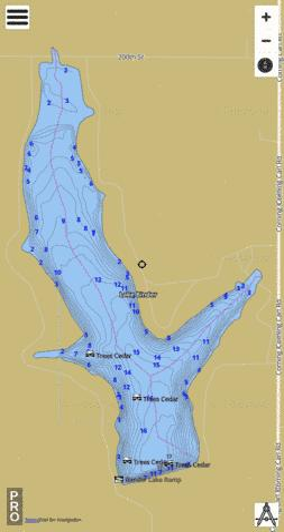 Lake Binder (Fishing Map  US_IA_00465856) Nautical Charts App