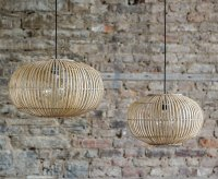 Bamboo Pendant Light Shade - Grace & Glory Home