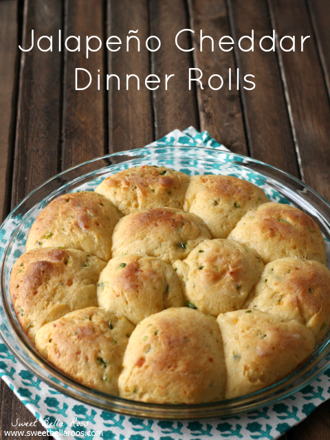 Jalapeno Cheddar Dinner Rolls- a savory twist on a classic dinner roll