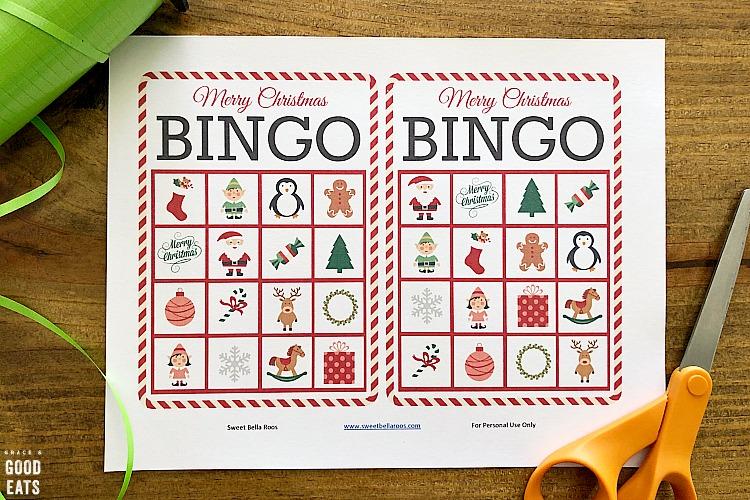 Christmas Bingo - Free Bingo Cards Printable Grace and Good Eats