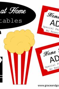 Movie Night at Home- Free Printables