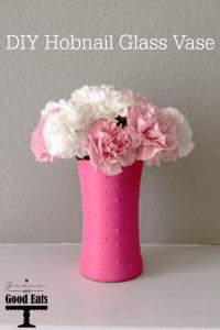 DIY Hobnail Glass Vase