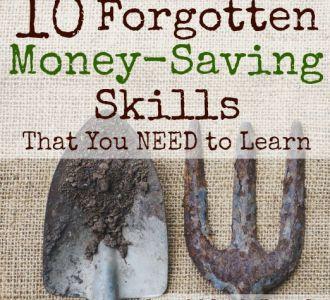 10 Forgotten Money Saving Skills