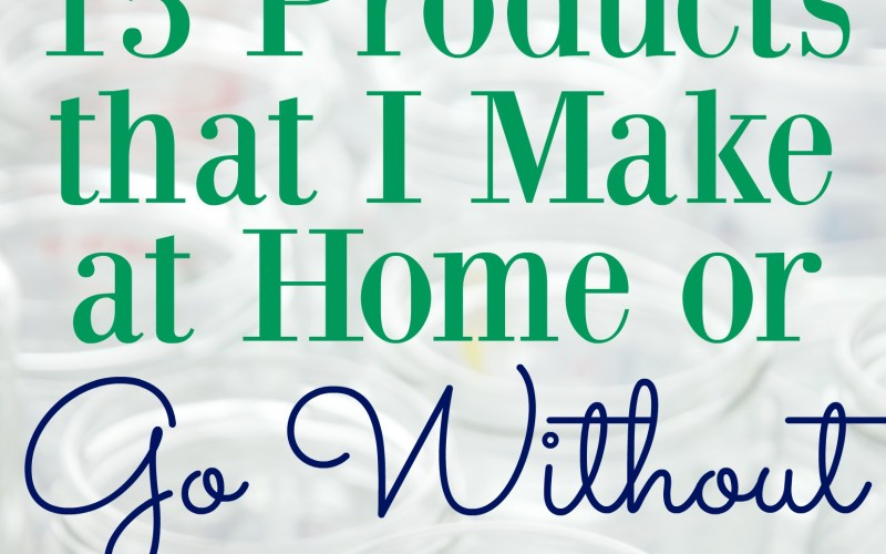 15 Products that I Make at Home or Simply Go Without