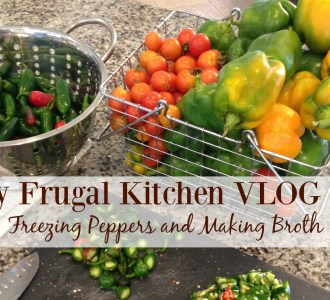 My Frugal Kitchen VLOG #1: Freezing Peppers and Making Broth