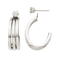 Three Row Hoop Earring Jackets from Gracious Rose Jewelry