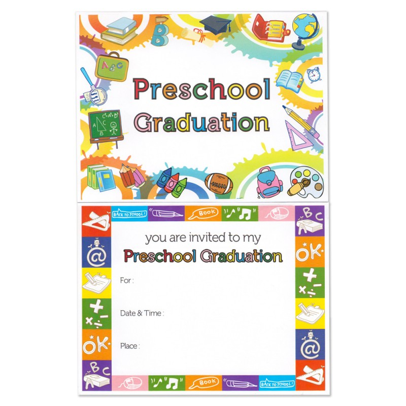 Preschool Graduation Announcement Gradshop - graduation program covers