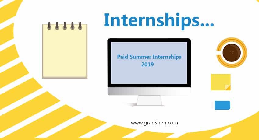 Best Paid Internship for Students Summer\u0027s Internship 2019 - Gradsiren