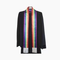 Fringed Rainbow Stole - Graduation-Stoles.com