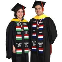 Non-Personalized Hispanic Flags Stoles - Graduation-Stoles.com