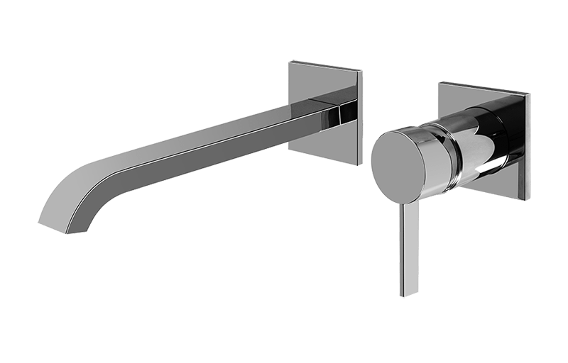 Qubic Tre Wall Mounted Lavatory Faucet W Single Handle