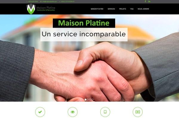 Site internet – Maison Platine