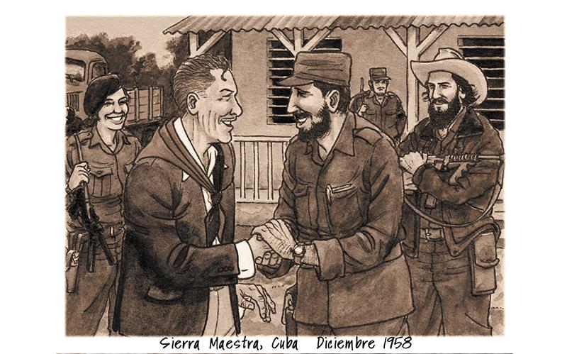 Errol Flynn y Fidel Castro en Cuba