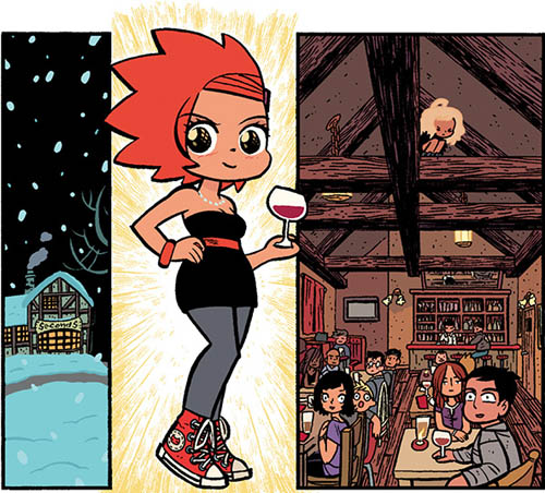 Comic SECONDS dibujado por Bryan Lee O'Malley