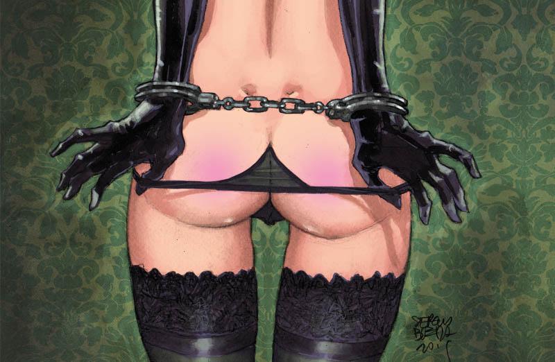 Ilustración de un culo dibujada por Sergio Bleda y que se regala con su cómic ESTO VENDE
