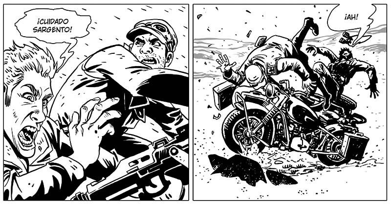 desierto de metal es un cómic de ciencia ficción, una ucronia llena de acción, robots, sabios y nazis