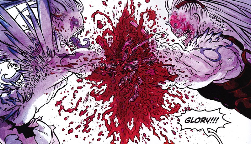 Glory. Un cómic  hiper violento de Joe Keatinge y Ross Campbell 03